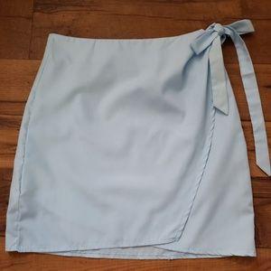 Dresses & Skirts - Wrap light blue skirt
